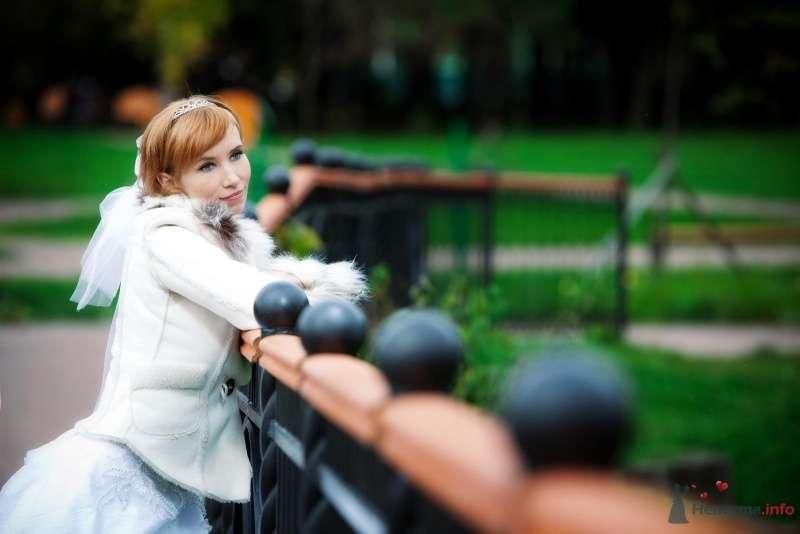 Невеста в белом платье стоит у парке - фото 61460 Нонсенс