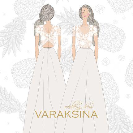 Шелковое свадебное платье по эскизу