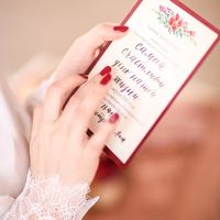 Приглашения с акварельным цветочным рисунком и каллиграфией  Фото Анна Макарова