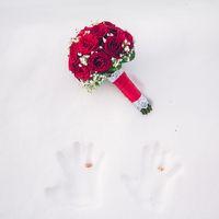 букет невесты, красный, зима, свадьба в тамбове