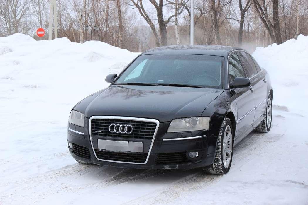 Audi A8 Long Quattro, цвет — черный металик, салон — черная кожа, 4-х зонный климат контроль, вентиляция + подогрев сидений, люк.  Выбирайте цель - мы предложим путь!  Модно! Стильно! Молодежно! - заказать авто надежный! - фото 4167365 Компания VIP-auto - автомобили