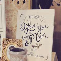 Каллиграфия на свадьбе, зона для пожеланий