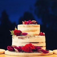 Торт бордовая свадьба. Боххл