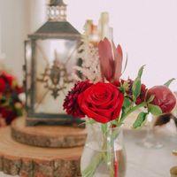 Осенняя свадьба. Бордовый цвет