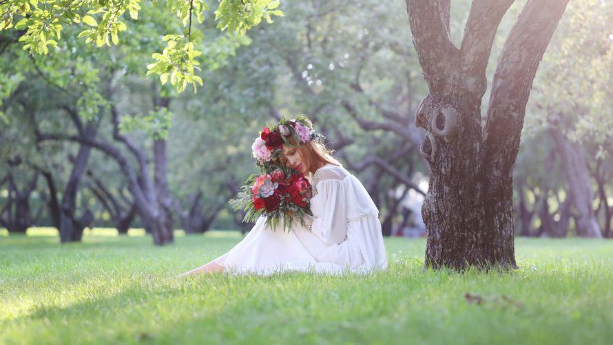 """Бохо, бордовый букет, утро невесты - фото 8971662 Студия """"Свадебки"""""""
