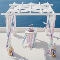 Свадьба Ани и Саши в стиле BOHO CHIC на о. Санторини