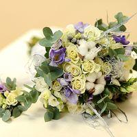 Букет невесты и ботоньерка
