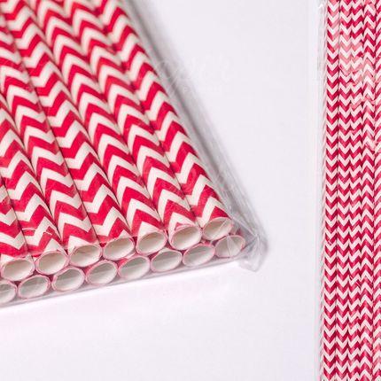 Трубочки бумажные  разные цвета 25шт