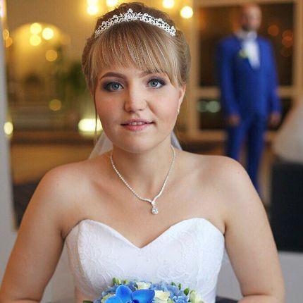 Свадебный образ - причёска + макияж