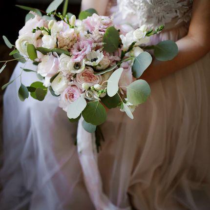 Букет невесты в пудровом цвете