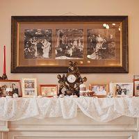 церемония у камина с семейными фотографиями