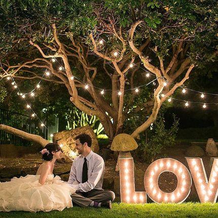 Аренда букв Love с ретро лампочками, цена за сутки