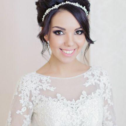 Свадебный пучок и макияж без репетиции