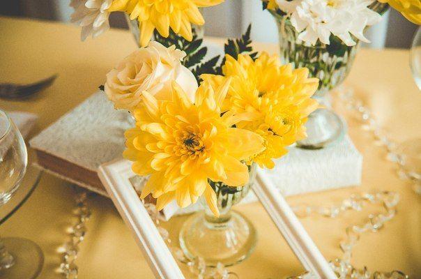 Украшение стола для романтического ужина
