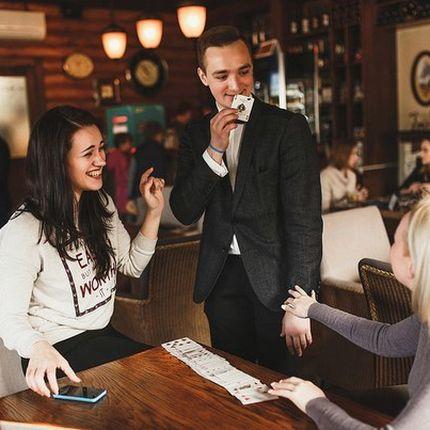 Микромагия (фокусы) на встречу гостей
