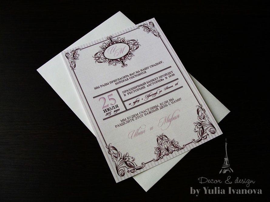 """Свадебное приглашение """"Классика"""". Артикул: LC-02 Заказ оформляется только через сайт  - фото 4646625 Продукция для фотографов и операторов Cdbox"""