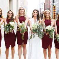 Подружки невесты в бордовом