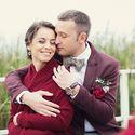 Бордовые акценты на свадьбе