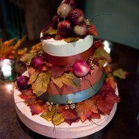Свадебный осенний торт