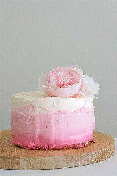 крем для торта розовый фото
