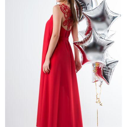Платье вечернее красное