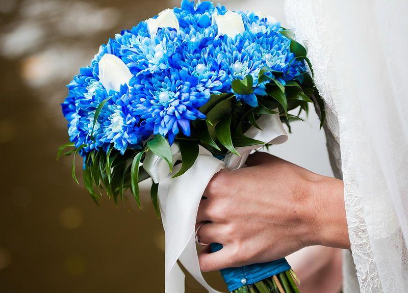 Букетах, свадебные букеты бело голубые фото