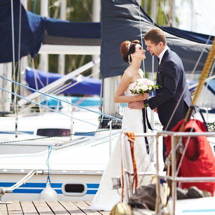 Аренда яхты для фотосессии и арочная аллея
