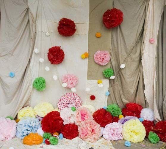 Фото 4833077 в коллекции Оформление помпонами - Декорация - организация и оформление свадеб