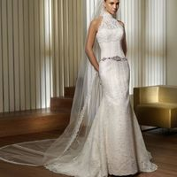 В НАЛИЧИИ!!!  Pronovias Pinal  Точная копия марки Pronovias. Свадебное платье прямого кроя. Очень нежное и сексуальное.   Размер - XS Застежка - молния Цвет - белый