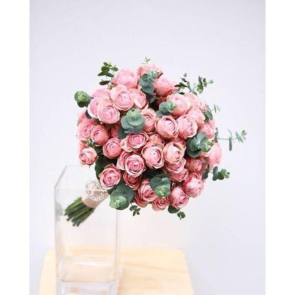Нежный свадебный букет из пионовидных роз (+ бутоньерка в подарок!)