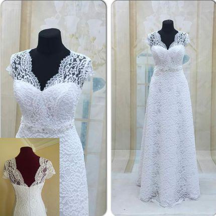 Кружевное свадебное платье Евгения