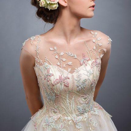 Цветное платье Акварель