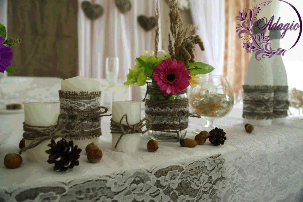 """Фото 4916565 в коллекции Свадьба в стиле rustic - """"Adagio"""" - свадебный декор"""