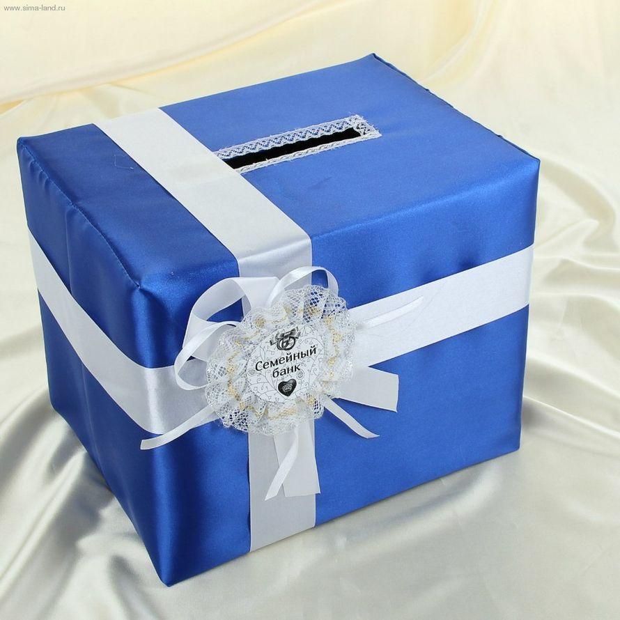 Украшение свадебной коробки для денег