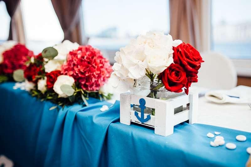 """Морская свадьба / Свадьба в морском стиле / Свадебное оформление в морском стиле - фото 6886434 Студия флористики и декора """"Лужайка"""""""
