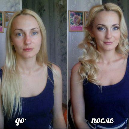 Пробная прическа и макияж