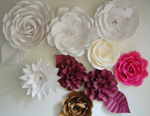 Как сделать объемные цветы на бумагу