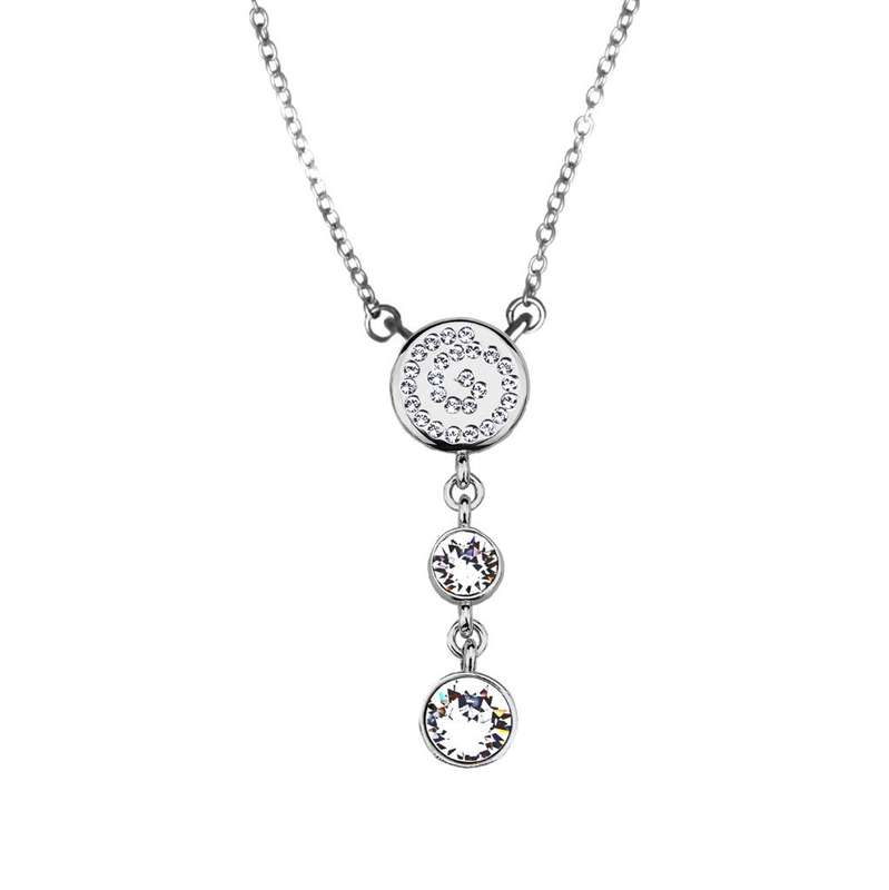 Кулон Parisienne rhodium crystal Покрытие - родий Вставки: кристаллы Swarovski   - фото 5089121 Ювелирный салон Mademoiselle Jolie Paris