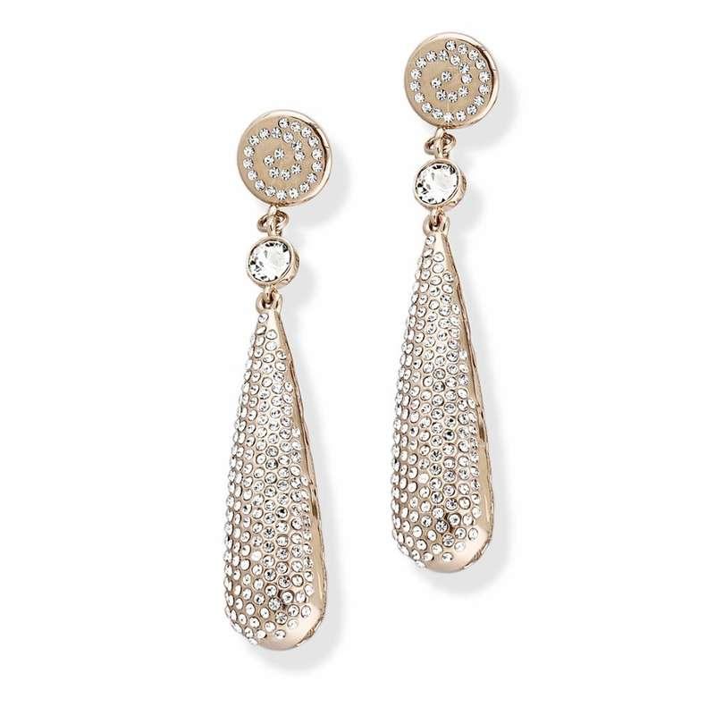 Серьги Parisienne grand gold crystal Покрытие - золото 585 пробы Вставки - кристаллы Swarovski - фото 5089147 Ювелирный салон Mademoiselle Jolie Paris