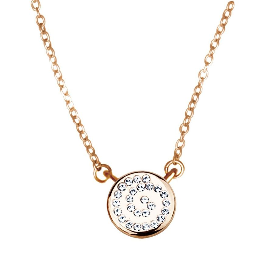 Кулон Parisienne mini gold crystal Покрытие - золото 585 пробы Вставки - кристаллы Swarovski   - фото 5089151 Ювелирный салон Mademoiselle Jolie Paris