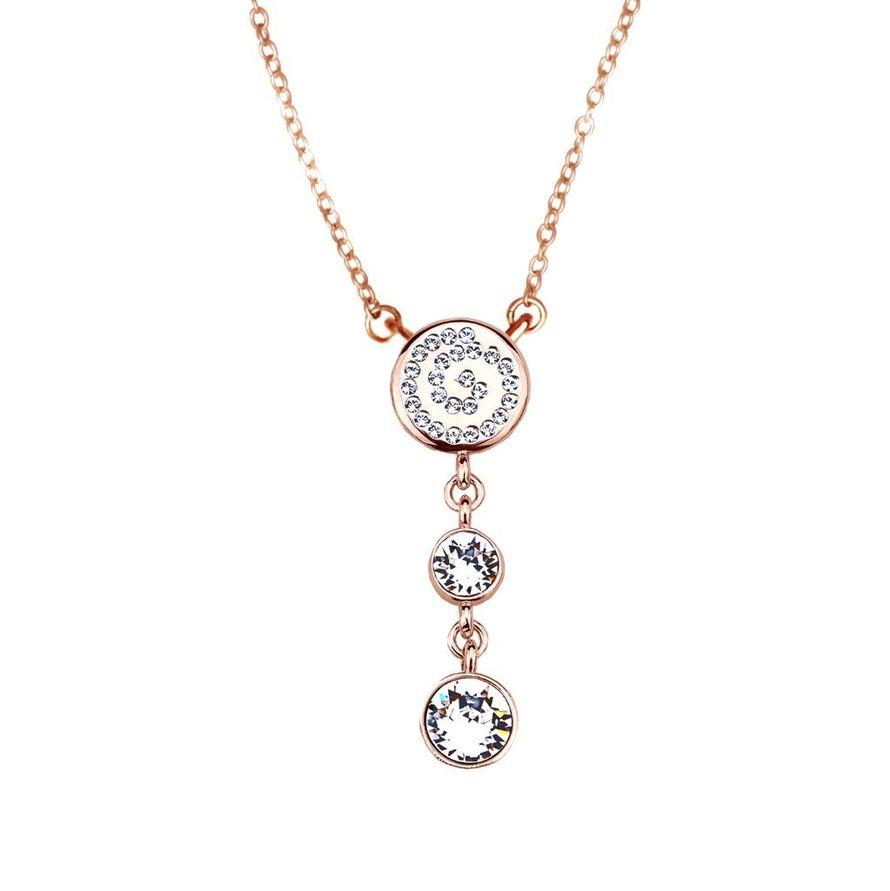 Кулон Parisienne gold crystal Покрытие - золото 585 пробы Вставки - кристаллы Swarovski   - фото 5089153 Ювелирный салон Mademoiselle Jolie Paris