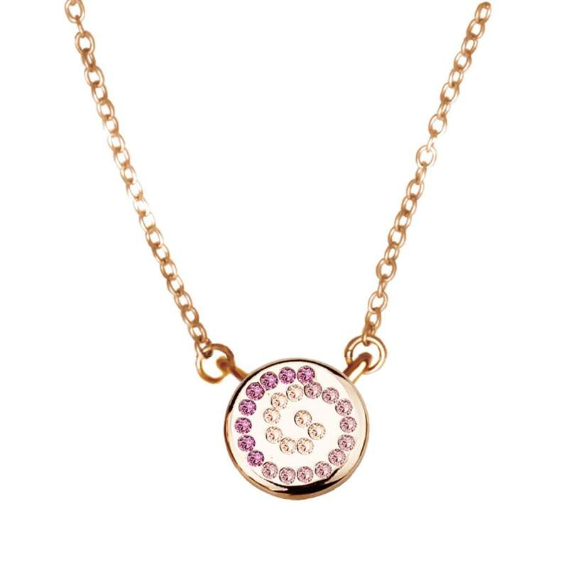 Кулон Parisienne mini gold multicolour Покрытие - золото 585 пробы Вставки - кристаллы Swarovski   - фото 5089187 Ювелирный салон Mademoiselle Jolie Paris