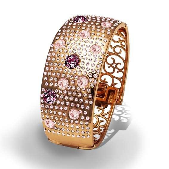 Браслет Parisienne grand gold silk Покрытие - золото 585 пробы Вставки - кристаллы Swarovski   - фото 5089203 Ювелирный салон Mademoiselle Jolie Paris