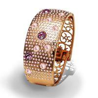 Браслет Parisienne grand gold silk Покрытие - золото 585 пробы Вставки - кристаллы Swarovski
