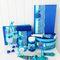 Комплект свадбеных аксессуаров в оттенках синего: сапфир, бирюза,мятный