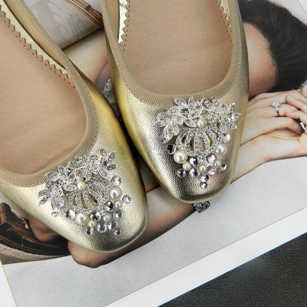 Свадебные балетки Goldy