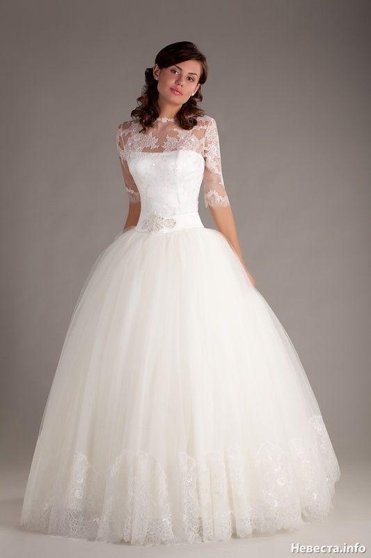 Пышные платья свадебные с рукавами