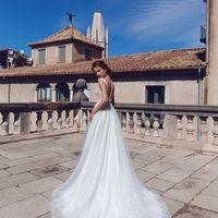 Блессинг (MR)Шикарное свадебное платье к кружевным верхом-маечкой и пышной юбкой со шлейфом