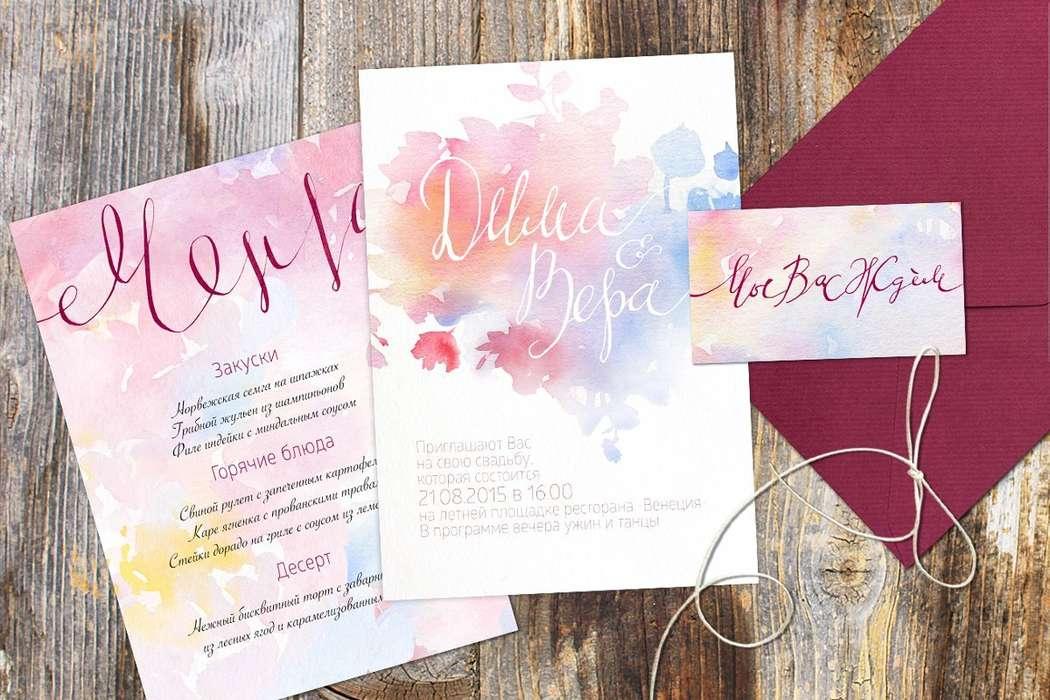 Каллиграфия и акварель для нежной свадьбы! - фото 5486297 Невеста01
