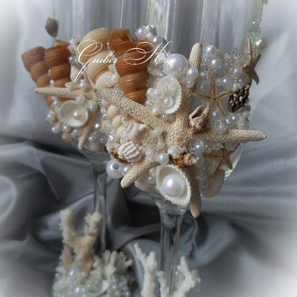 Бокалы с морском стиле